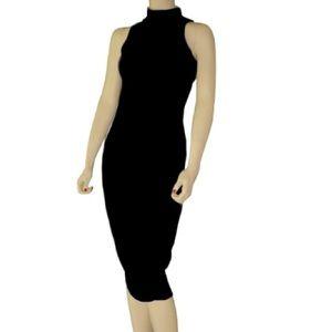 Moda International sleeveless turtleneck dress